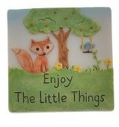 Enjoy The Little Things Resin Fox Magnet Gift